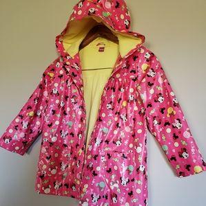 NWNT Disney girls rain spring jacket